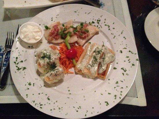 Taste of Ukraine : Sampler platter