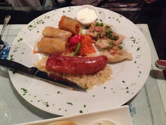 Taste of Ukraine: Sampler platter