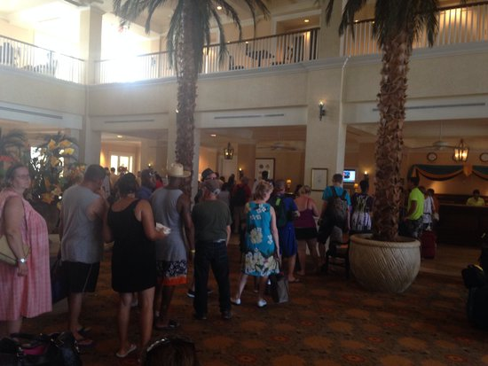 Grand Lucayan, Bahamas: The nightmare that is the check in process.
