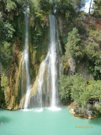 Restaurant Les Pins: cascade de Sillans la cascade   à voir absolument