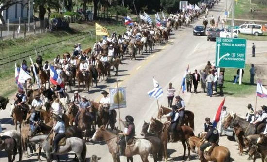 Paysandu Department, Uruguay: Marcha a la meseta.