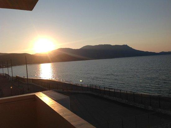 Galini Beach Hotel: Tramonto dalla camera