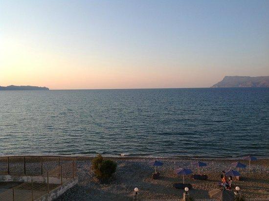 Galini Beach Hotel: Tramonto