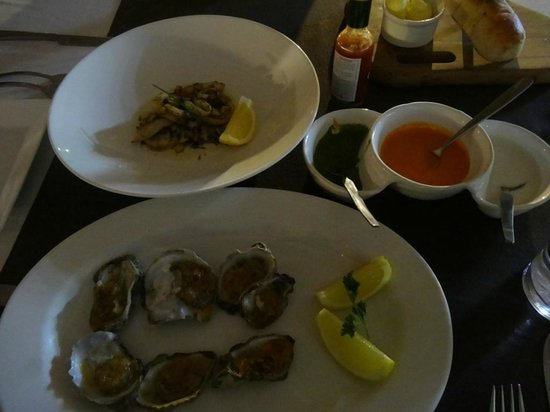 Seven Seafood & Grill: Oysters and Calamari...