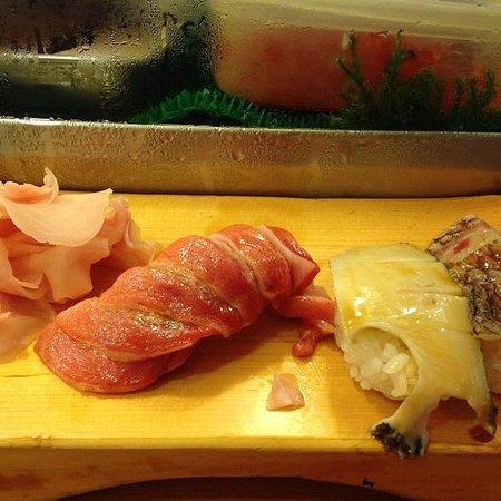 Daiwa Sushi: Fatty tuna and abalone, worst ever btw.