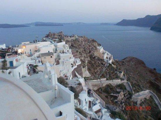 Villa Rivas Santorini: Закат в Ие