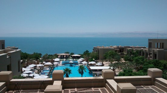 The view from our room in the main building of the Holiday Inn Resort Dead Sea.