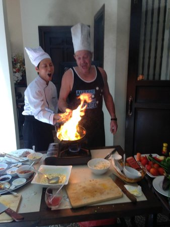 Little Hoian Boutique Hotel & Spa: Cooking with Danny the chef