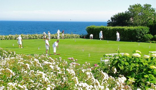 The Ocean House: yes they are playing croquet in all white clothes