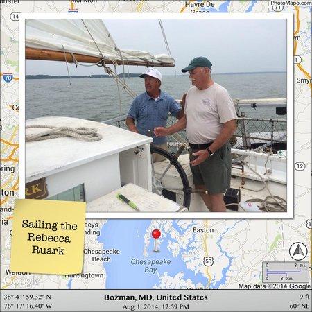 Skipjack -Rebecca T. Ruark Charter: Sailing with Capt. Wade