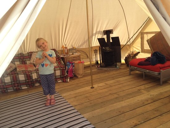 Camp Katur: In side the tent
