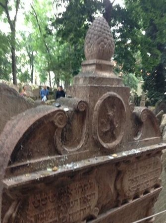 Jewish Museum in Prague: grave stone