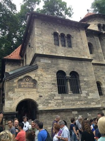 Jewish Museum in Prague: outside the cemetary