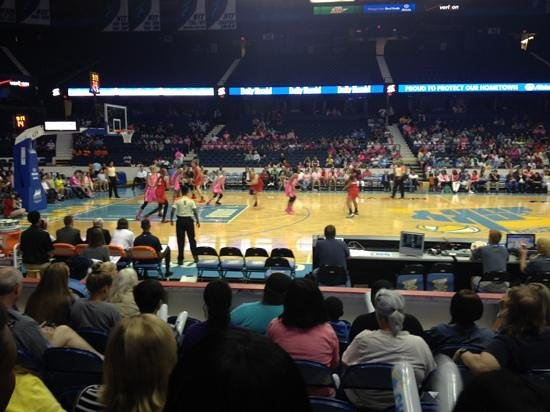 Allstate Arena: awesome seats & an exciting game.  Go Sky!