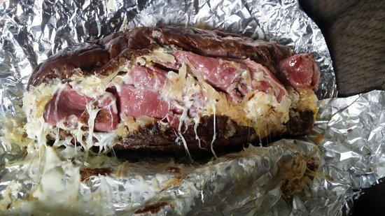 Time Out Deli: Reuben sandwich. So messy and delicious!