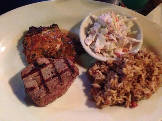 Bayou Grill : Bayou chicken & sirloin, cooked perfectly.