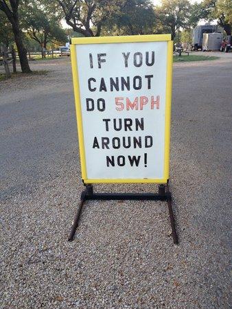 Fredericksburg KOA Kampground : Sign that greets you as you enter the campgrounds