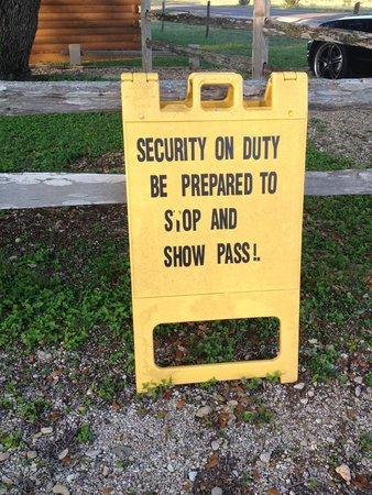 Fredericksburg KOA Kampground : Another sign