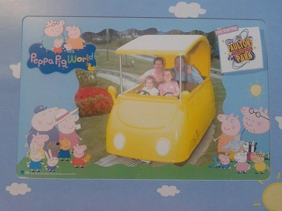 On Daddy Pig's Car Ride in Peppa Pig World, Paultons Park