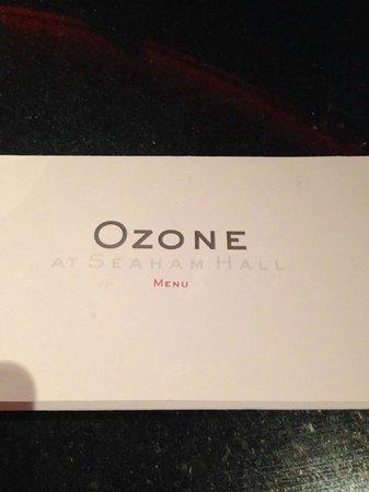 Seaham Hall: Ozone resturant.