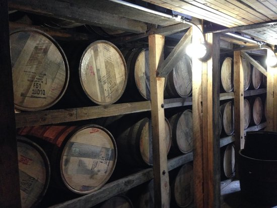 Maker's Mark: In the on site warehouse