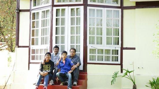 Royal Heritage-Tripura Castle: Back Yard of one of Suit