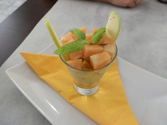 Domus modica food: Melone con latte di cocco e vaniglia