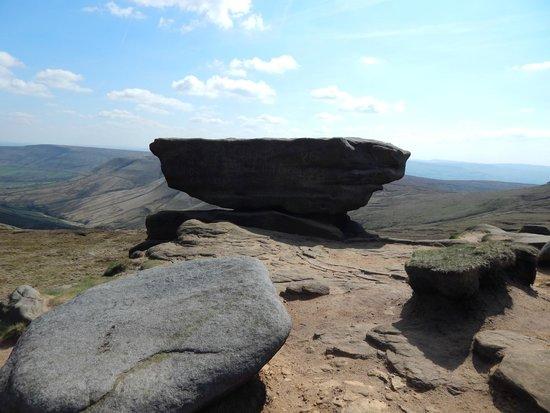 Kinder Scout: wind eroded rocks