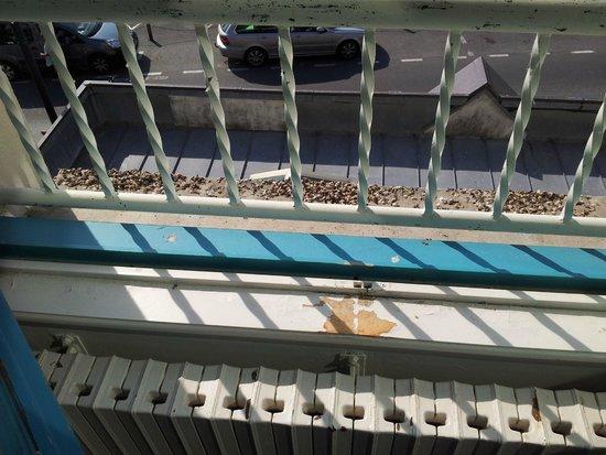 Le Querrien : vue du balcon 2ème étage