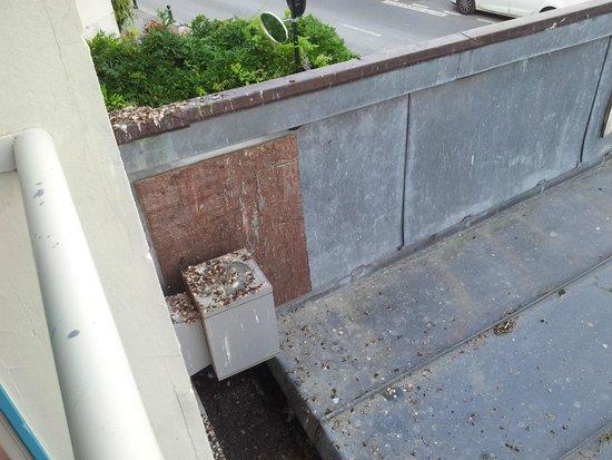 Le Querrien : vue du balcon 1er étage