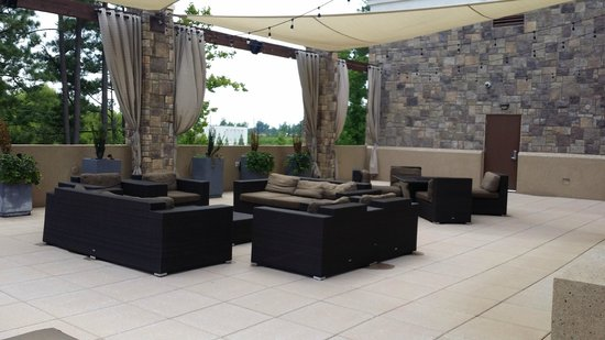 Embassy Suites by Hilton Raleigh - Durham Airport/Brier Creek : Relaxing area outside