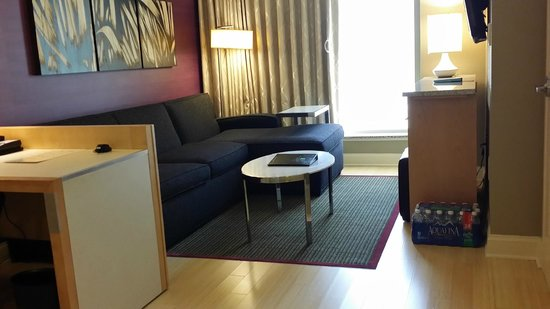 Embassy Suites by Hilton Raleigh - Durham Airport/Brier Creek: Living room in guest suite