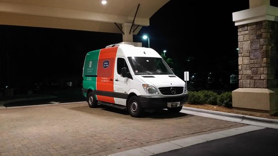 Embassy Suites by Hilton Raleigh - Durham Airport/Brier Creek: Shuttle van used for airport and shopping center transportation