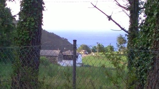 Camping Playa de Otur: Vistas desde nuestro bungalow