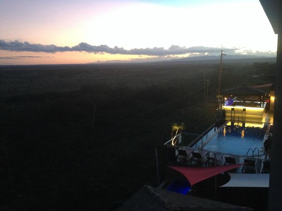 Ole Sereni: View from room window to pool bar