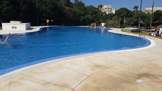 Los Amigos Beach Club: The rear pool. Usually quieter and easier to get a sun bed