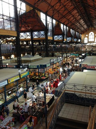 Central Market Hall: Looking down from the second level