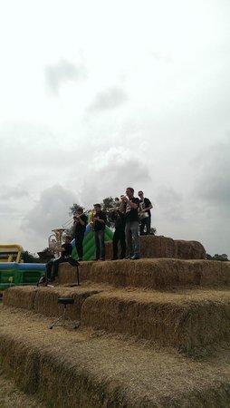 York Maze: A brass band on a pyramid