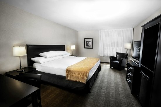 Skyline Hotel & Waterpark: Traditional One King features a luxurious King size bed