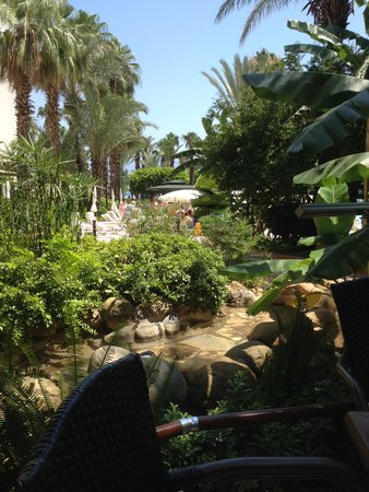 Hotel Aqua: Sat down for a drink looking at the gardens