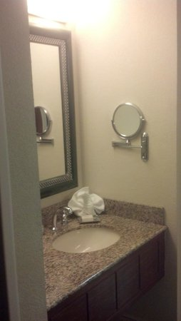 Hilton Orlando Lake Buena Vista: Sink outside bath room 9105
