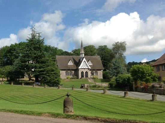 Ilam Park: looking to the village.
