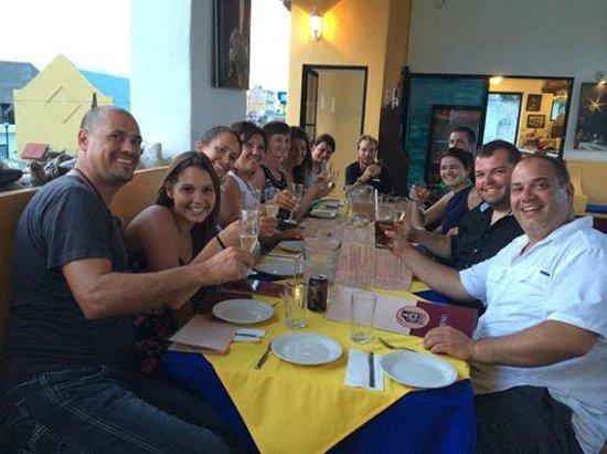 Plongee Grand Cozumel Diving: Dernier souper chez l'Italien, excellent!
