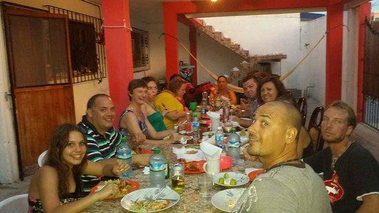 Plongee Grand Cozumel Diving: Souper de langoustes à la maison