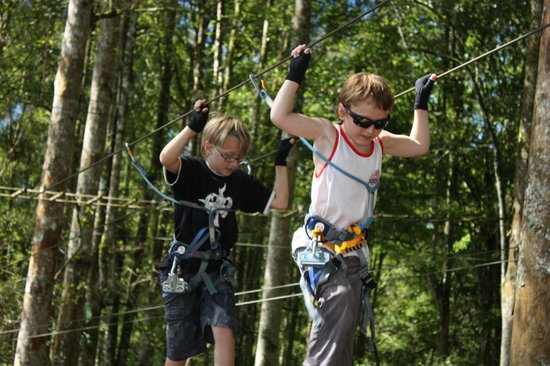 Bali Treetop Adventure Park: Age 8 and 10, first visit