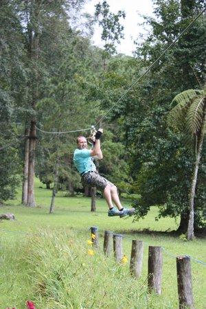 Bali Treetop Adventure Park: Final Flying Fox