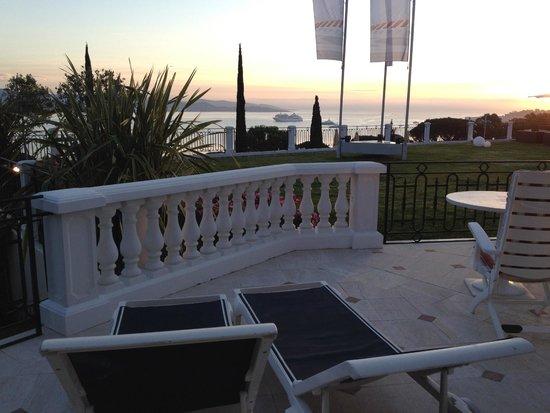 Villa Belrose Hotel : Corner room balcony, Hotel Villa Belrose
