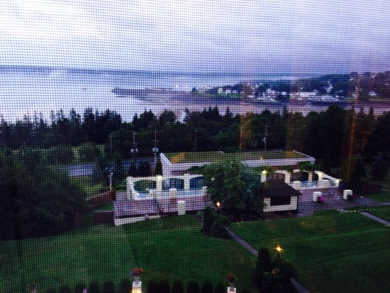 Digby Pines Golf Resort & Spa: From our room window overlooking the Racquette and the hotel's pool and spa.
