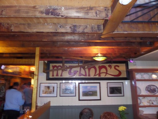 McGann's Pub and B&B: A little indoor signage...the walls are covered!