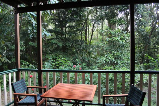 """Red Mill House in Daintree: """"our"""" verandah"""